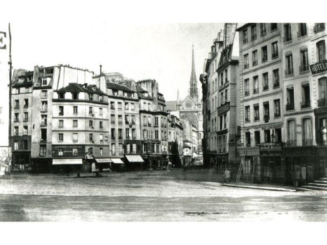Paris centre Maubert -Monge-Saint-Séverin - Paris photographié au temps d'Haussmann