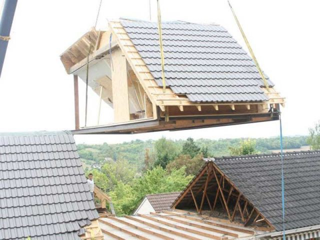 Sur l vation partir de modules bois pr fabriqu s maisonapart - Module prefabrique bois ...