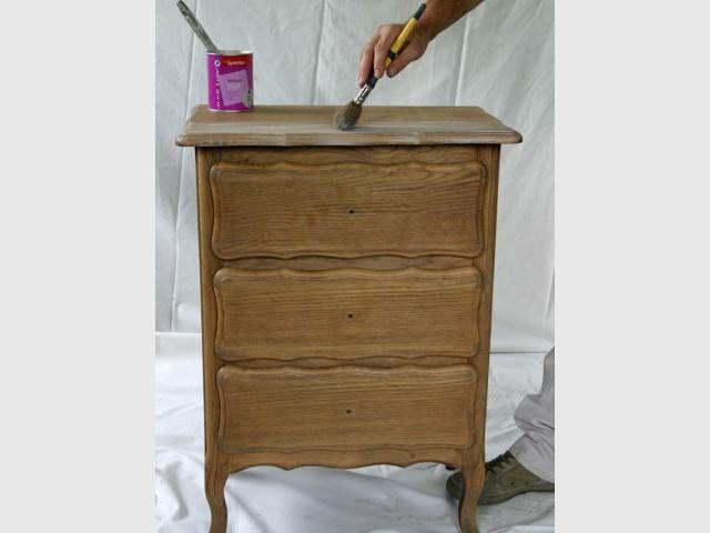 Patiné vieilli - meuble customisé