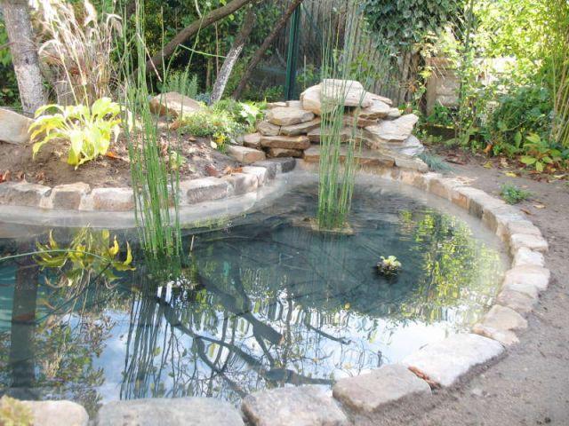 Avant apr s 1 bassin pour redonner vie 1 jardin - Construction bassin de jardin ...