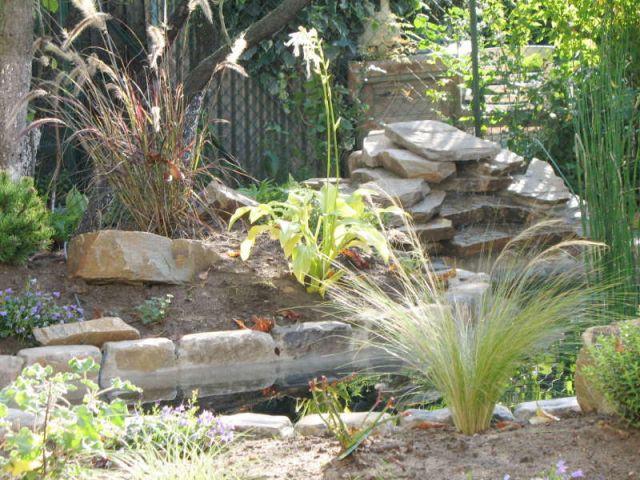 Avant apr s 1 bassin pour redonner vie 1 jardin - Petit bassin de jardin avec cascade ...
