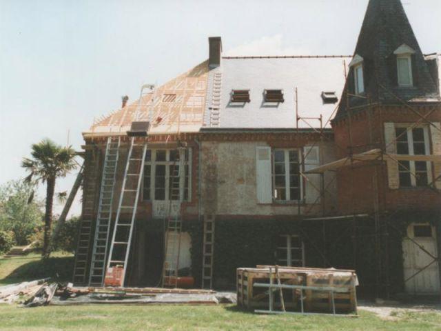 Avant apr s ravalement de fa ade d 39 une maison de ma tre - Maison avant apres travaux ...