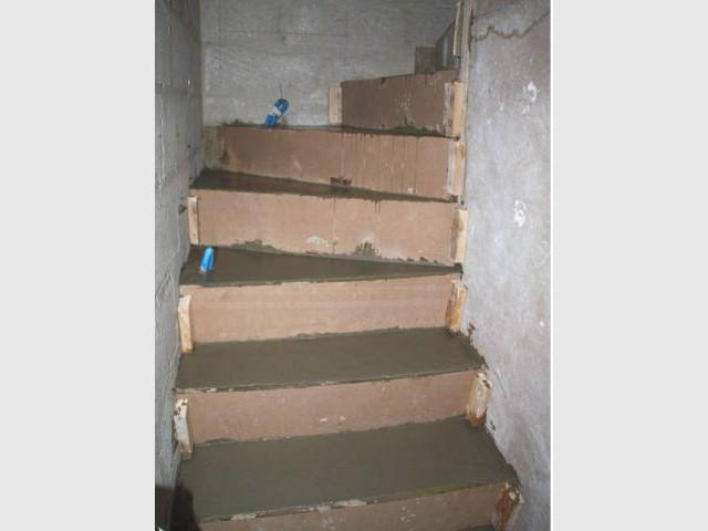 Séchage - escalier béton