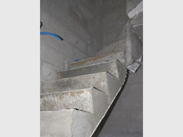 Finitions - escalier béton