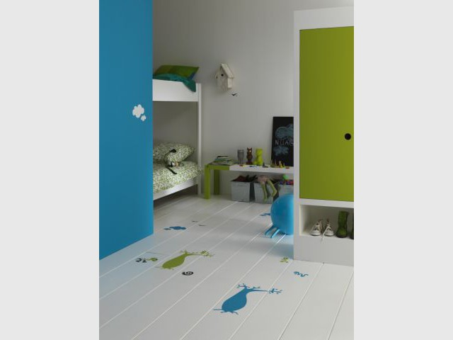lino chambre enfant tapis enfant 100x165 cm chambre fille vert anis lambris pvc chambre enfant. Black Bedroom Furniture Sets. Home Design Ideas
