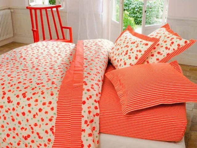 Le linge de lit prend des couleurs for Housse couette linvosges