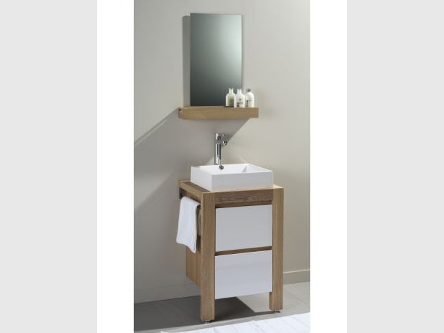 salle de bain gain de place une salle de bains deux enfants mais pas de bousculade grce ces. Black Bedroom Furniture Sets. Home Design Ideas