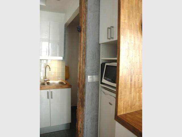 excellent nouveaux rangements la mtamorphose duun couloir de m en cuisine with cuisine couloir. Black Bedroom Furniture Sets. Home Design Ideas