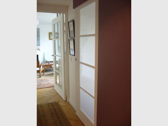 Porte cuisine coulissante peinte