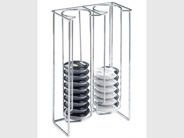 Le double rangement sobre - Supports pour capsules