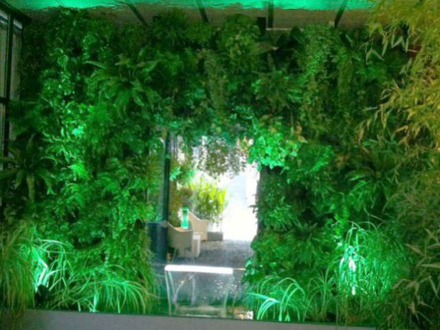 Un mur végétal éphémère - Jardin éphémère