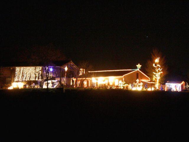 Vue d'ensemble - Noel maison illuminée 2010