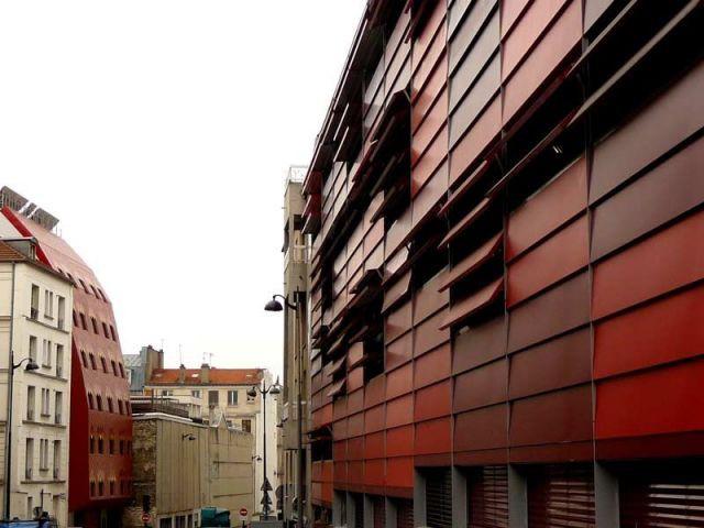 Une r sidence tudiante aux lames mobiles et color es paris - Brigitte metra architecte ...