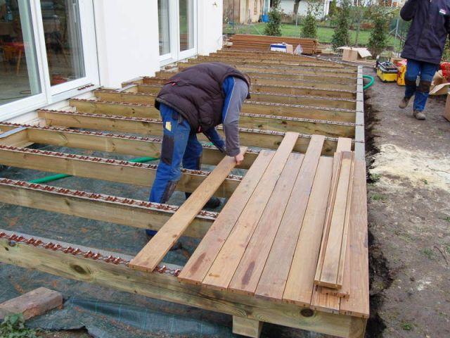 Terrasse bois composite mode demploi for Monter une terrasse en bois