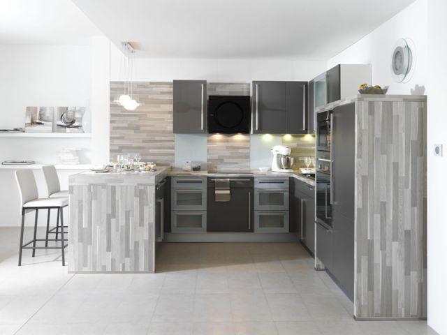 trendy elgante et discrte cuisines moins with cuisine amenagee but. Black Bedroom Furniture Sets. Home Design Ideas