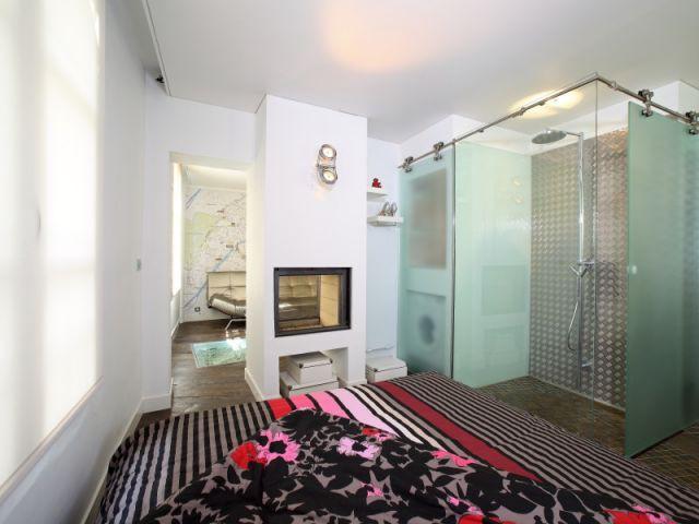 Vue d'ensemble côté chambre - Après - Mini-loft