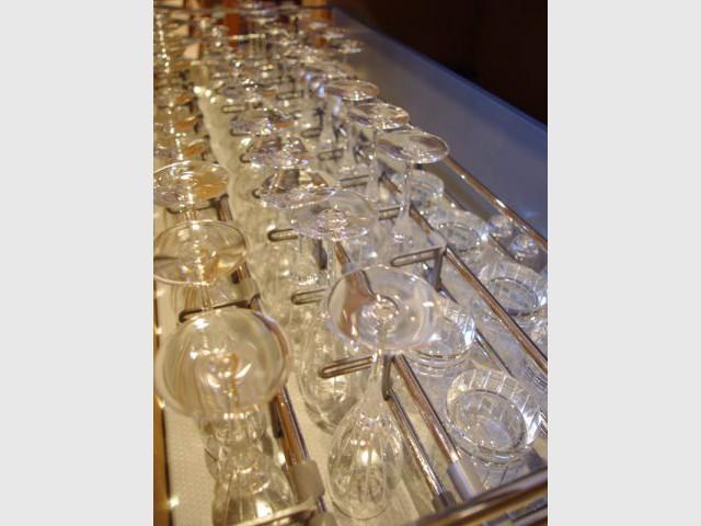 Tiroir verres - Reportage cuisine sous-sol
