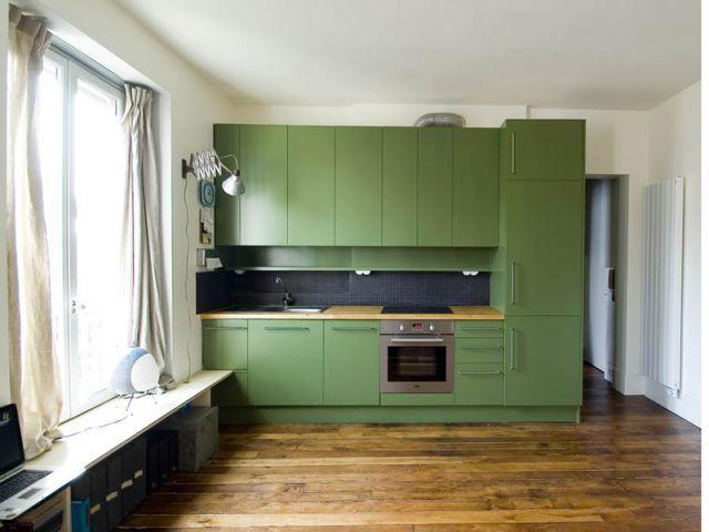 Excellent meuble de cuisine studio m with meuble cuisine for Meuble cuisine studio