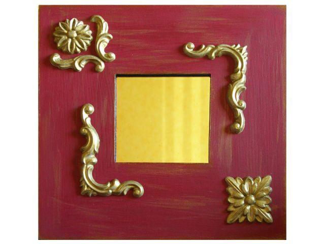 Autre idée : miroir baroque rouge - Les Ateliers de Mireia