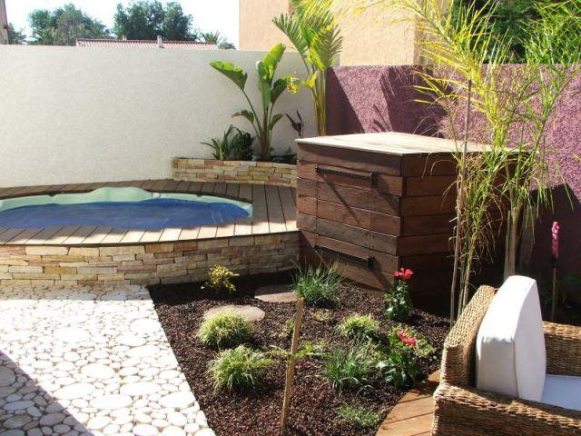 1 spa comme point de d part d 39 1 projet paysager for Projet amenagement exterieur