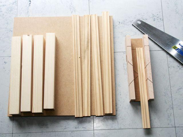 Une table basse fabriqu e maison for Decoupe angle plinthe bois
