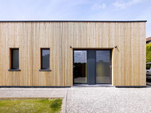 Maison passive - Entrée principale - Maison passive Neuville en Ferrain