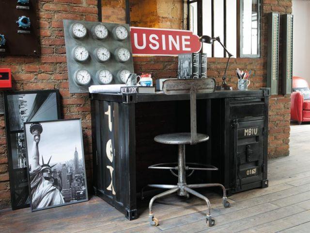 10 bureaux 10 ambiances - La salle a manger atelier au style classique chez maisons du monde ...