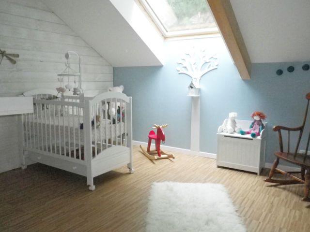 Une chambre bleue pour la petite rose for Chambre bebe style anglais