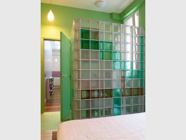 Salle de bains verte - Appartement couleurs