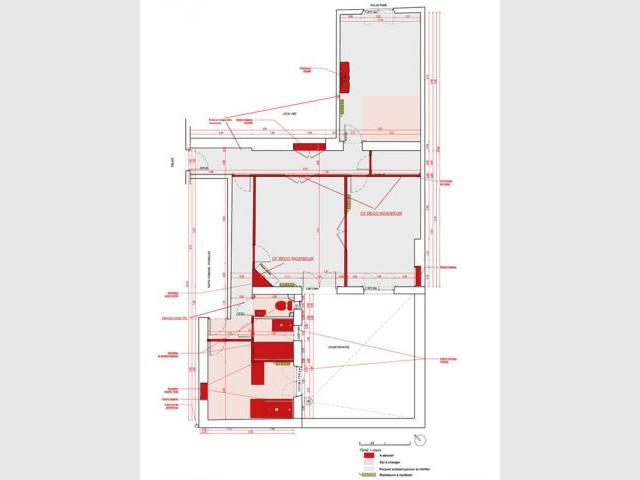 Plan existant - Appartement couleurs
