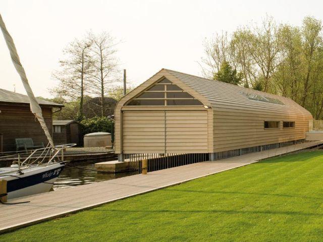 Haven - Le garage à bateau vue de l'extérieur - Maison Haven