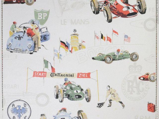 Papier peint pour enfant - Course automobile - Au royaume des petits princes