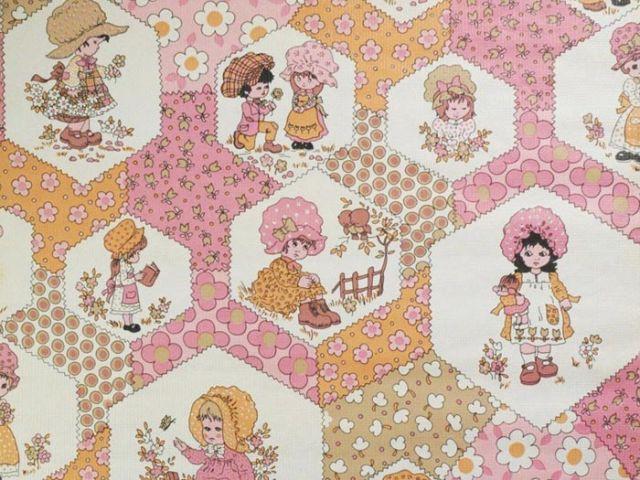 Papier peint pour enfant - Enfants sur fond patchwork - Au royaume des petits princes