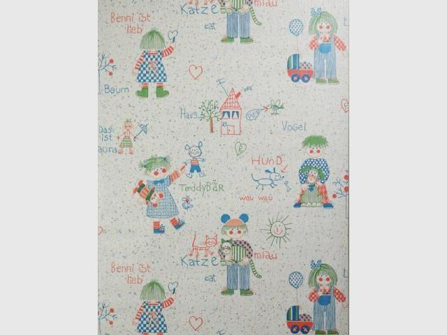 Papier peint pour enfant - Dessins enfantins et vocabulaire - Au royaume des petits princes
