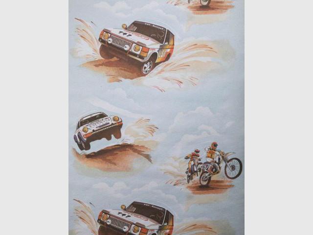 Papier peint pour enfant - Rallye Paris-Dakar - Au royaume des petits princes