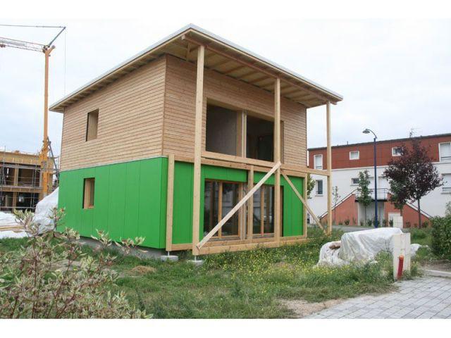 Maison en cours de finalistation - maison paille
