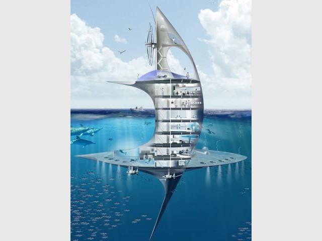 Bateau vertical - Jacques Rougerie