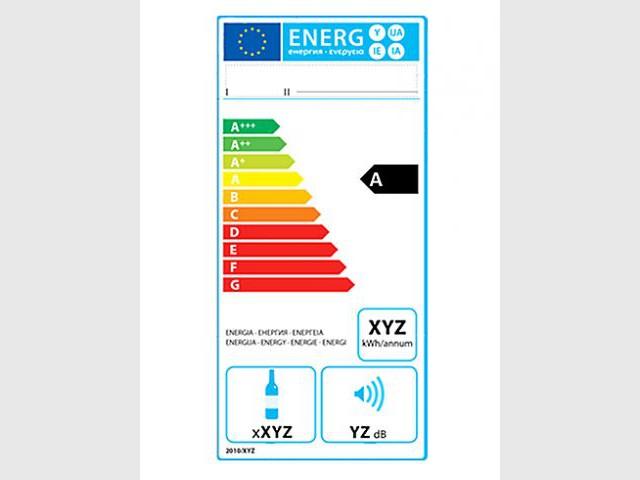 Nouvelle étiquette énergie pour les caves à vin - Nouvelle étiquette énergie