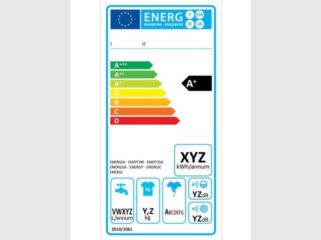Nouvelle étiquette énergie pour les lave-linge - Nouvelle étiquette énergie