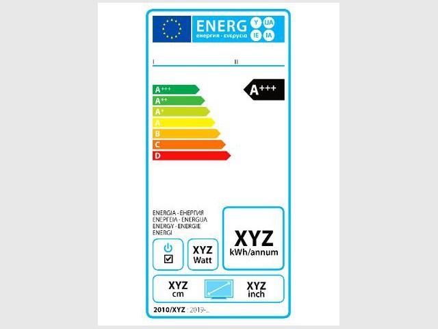 Nouvelle étiquette énergie pour les téléviseurs - Nouvelle étiquette énergie
