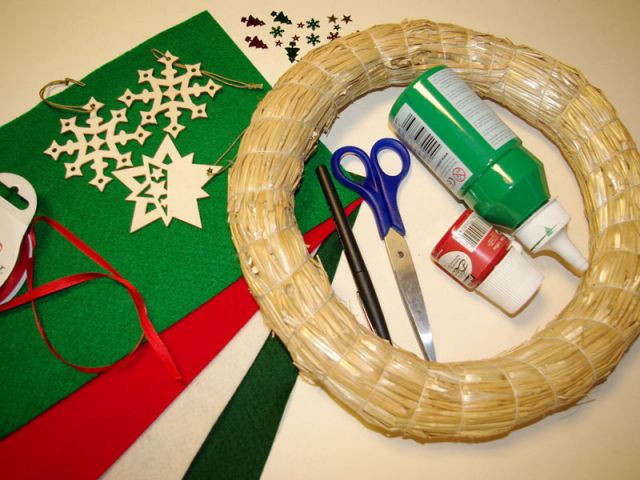 Couronne de Noël - Matériel nécessaire - Pas à pas couronne de Noël