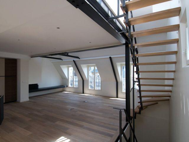 Duplex avec terrasse - Escalier - Reportage duplex terrasse