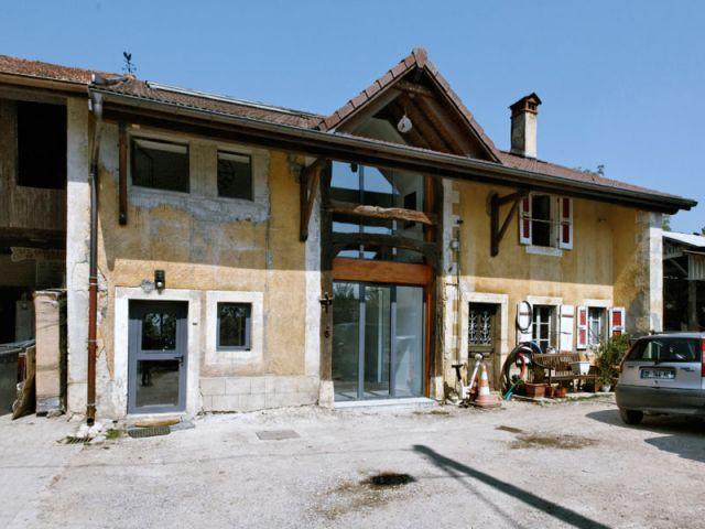 Façade intacte - Reportage grange architecteurs
