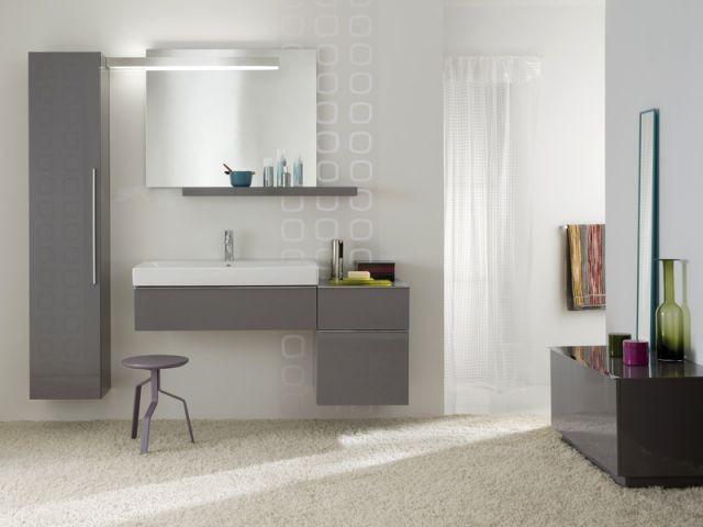 10 salles de bains fondues dans le d cor - Humidite dans salle de bain ...