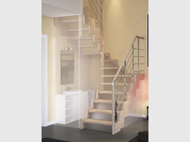 Salle De Bain Sous Escalier #12: Sous Lu0027escalier, Une Salle De Bains - 10 Aménagements Sous Escalier