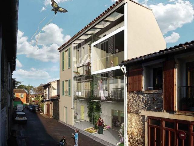 une serre bioclimatique au coeur d 39 une maison de ville. Black Bedroom Furniture Sets. Home Design Ideas