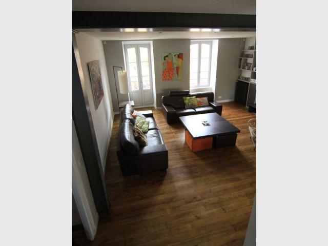 Un parquet conservé - Maison DPLG / Rennes / reportage