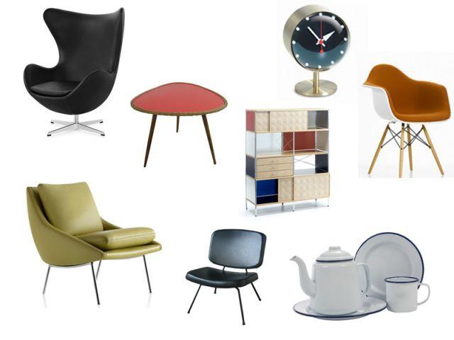 Renouveau du design des ann es 50 trouver des ic nes vintage for Reedition meuble design