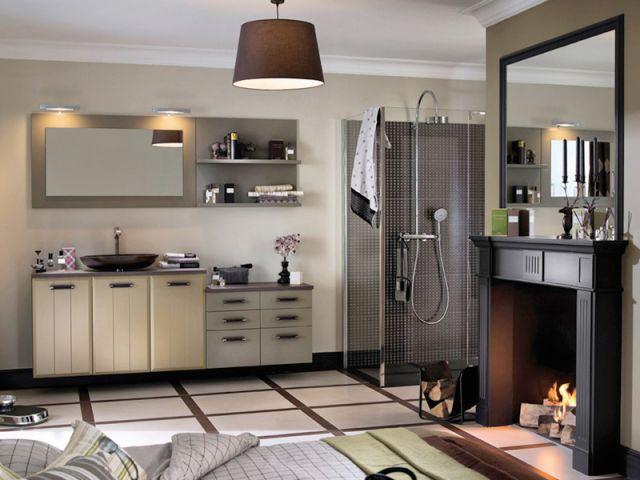 Et pourquoi pas une cheminée dans la salle de bains ? - Chauffage salle de bains