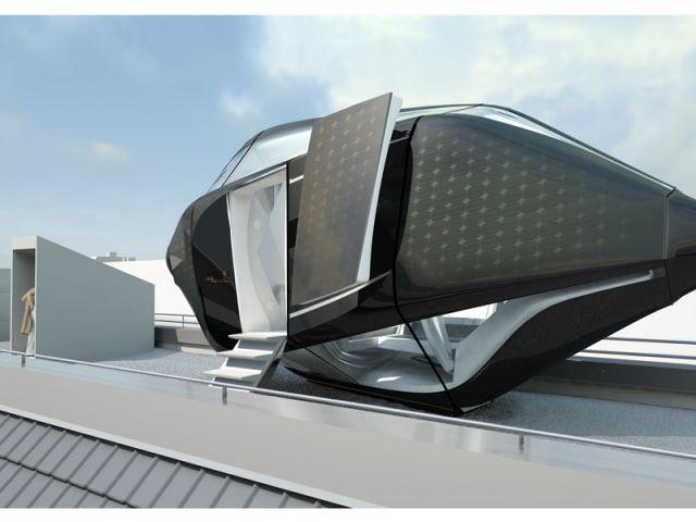 Living Roof - Sas d'entrée dans la capsule - Living Roof